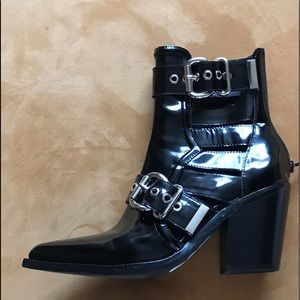 Jeffery Campbell Black  Patent Leather Boot.